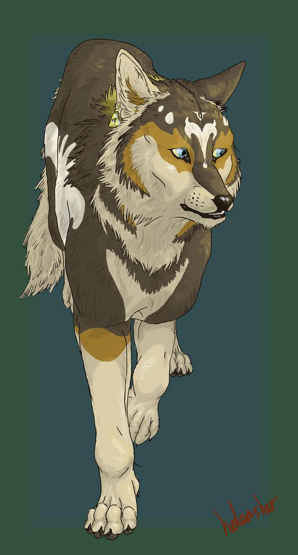 elemental wolf background