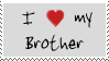 I love my brother stamp by Morbia