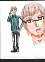 Catherine Genderbend #1: Khristian McGroom colored by Moonliightartist