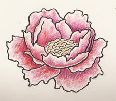 Flower tattoo by Digested-Crayon