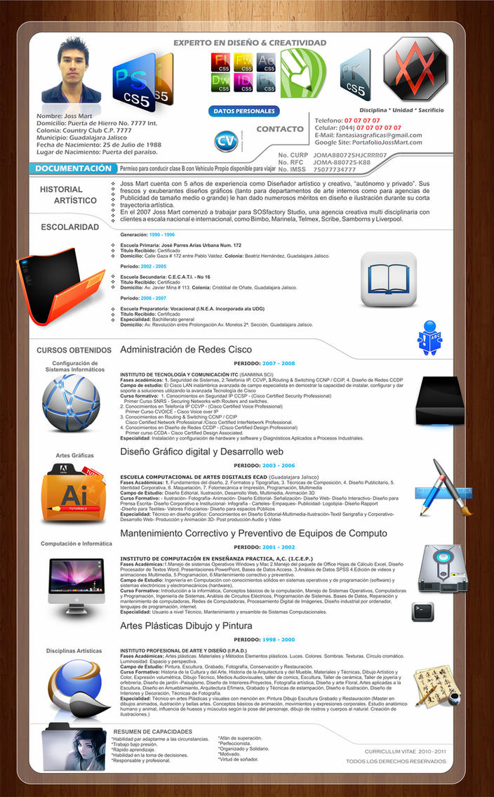 Curriculum Vitae 2011 by jossmart on DeviantArt