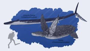 Reptilian Titans of the Artechocene Oceans