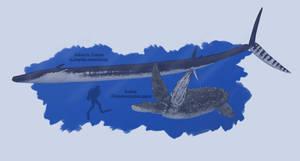 Reptilian Titans of the Artechocene Oceans V2