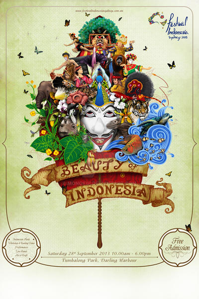 Festival Indonesia Sydney 2013 Promotional Poster by mongkih