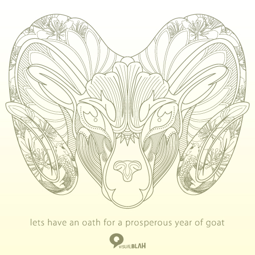 an oath for the year of goat by mongkih