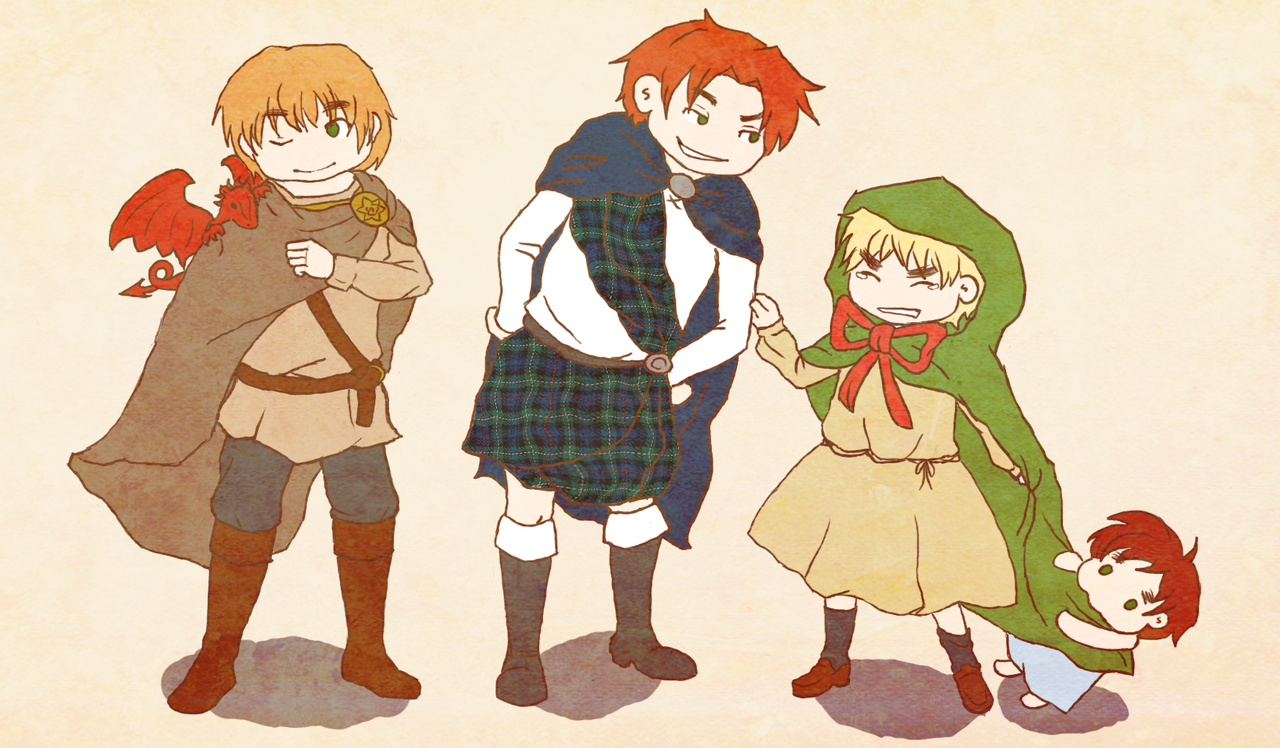 The British Bros: The Beginnings by frecklesmelody