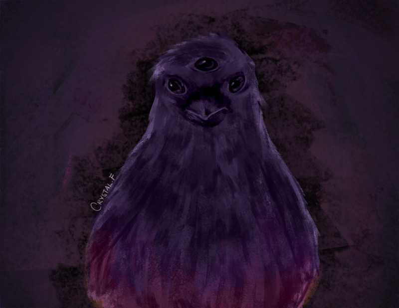 Purple Three Eyed Crow by captainkongkong