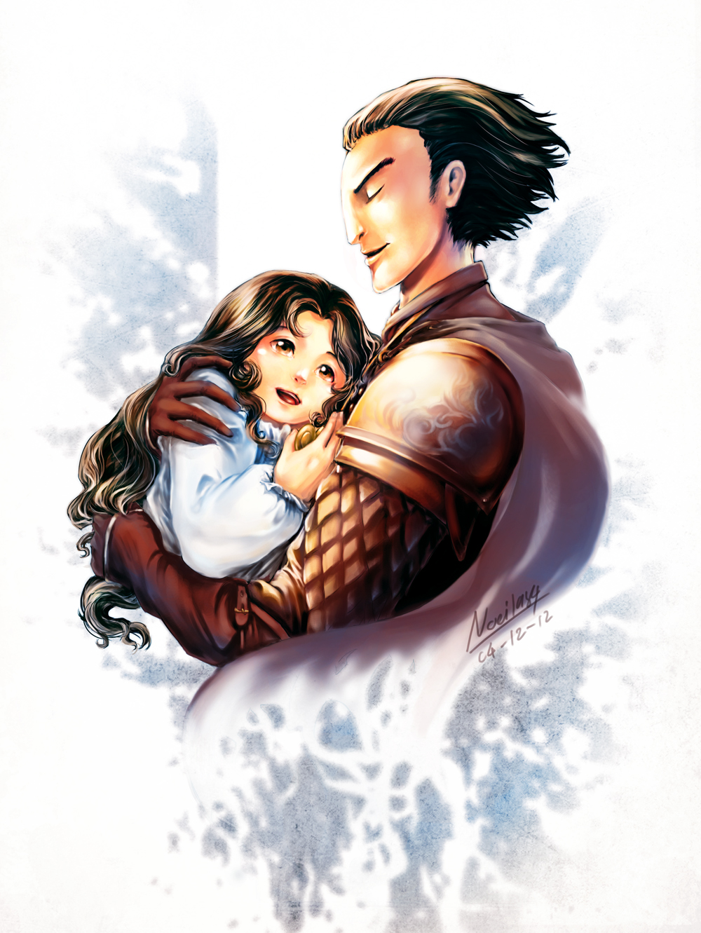 [tGoC / RotG] Kozmotis Pitchiner and his daughter by noei1984