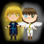 Chibi Hand Hold by PsychoMeows