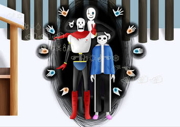 Skeleton Family by PsychoMeows