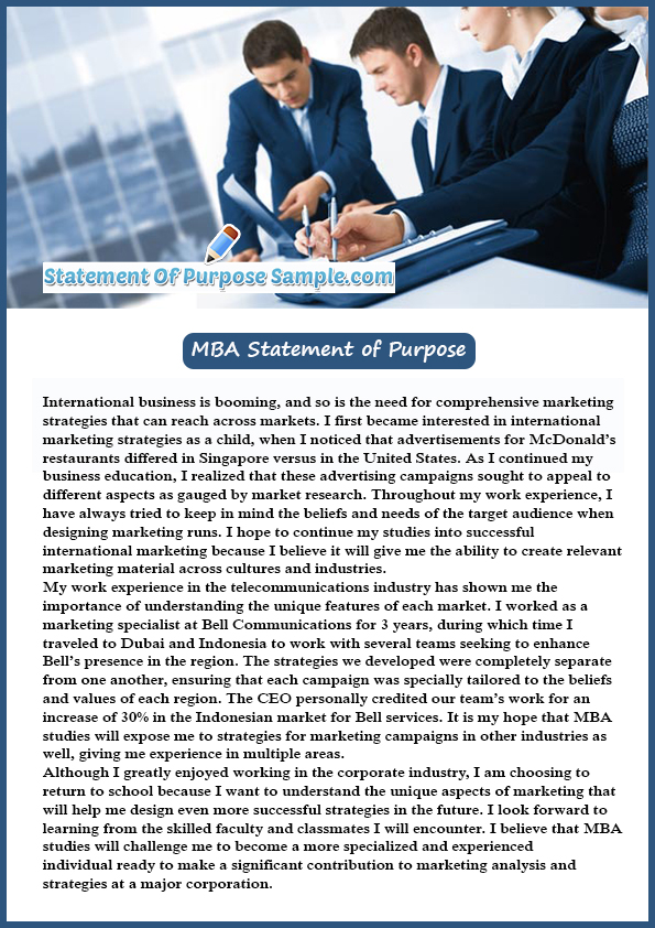 Sample Essay For Mba