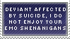 Affected By Suicide Stamp by LKstock