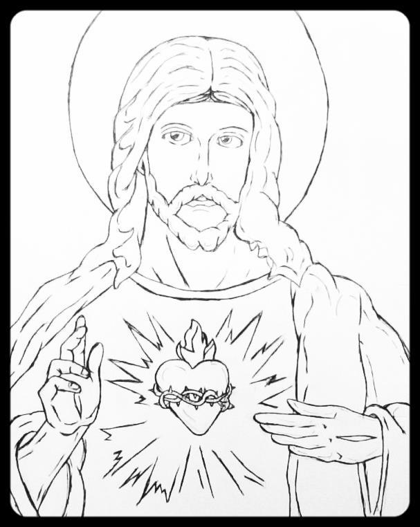 Line Drawing Jesus : Jesus christ lineart by raphturetarts on deviantart