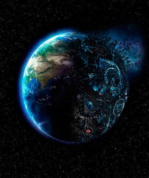Planet Earth and Cybertron Together As One