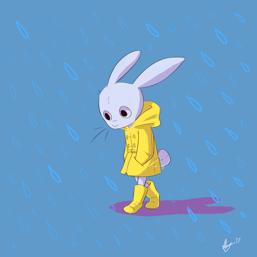 Bunny Rain By Ayogius On DeviantArt