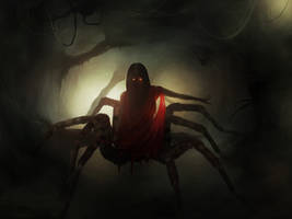 Lolth. (Queen of spiders) by Anfedart