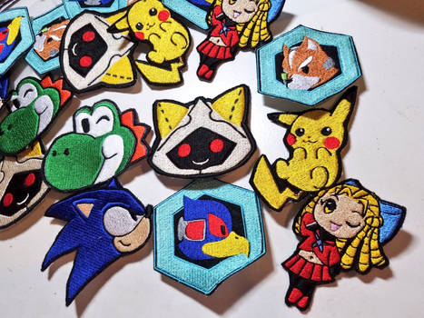 Embroidered Patch-Pins