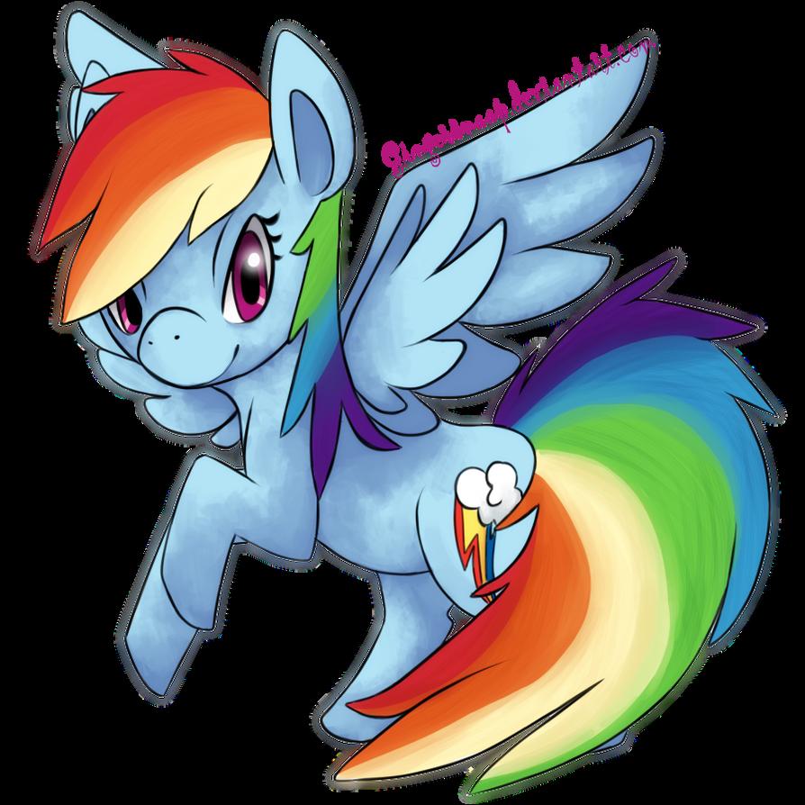 Rainbow Dash by Gingersnaap