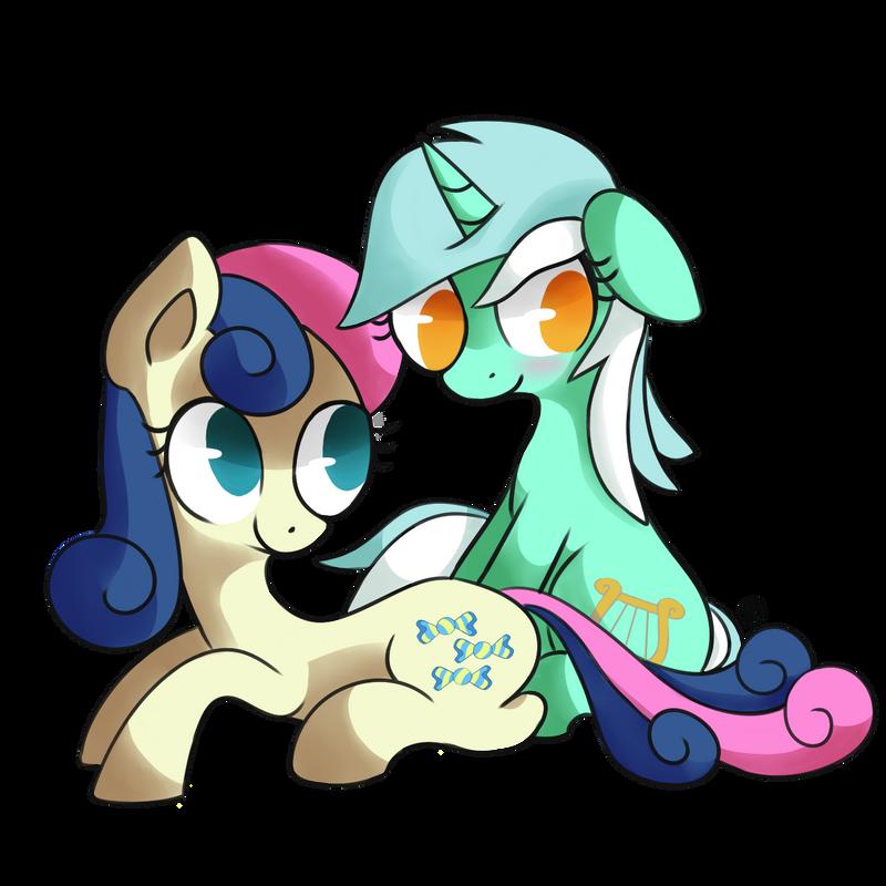 Lyra and Bon Bon by Gingersnaap