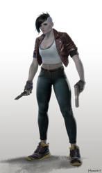 Razor Girl character concept
