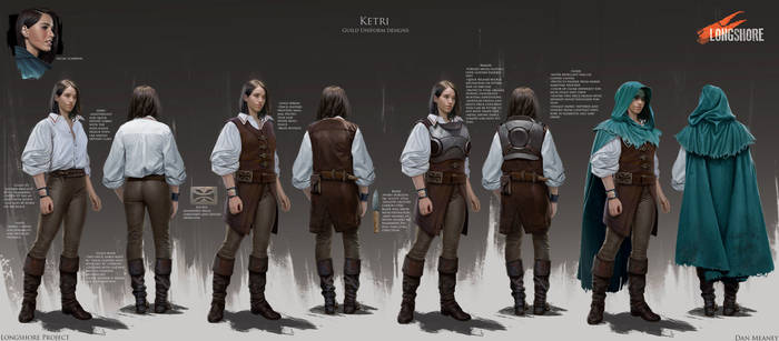 'Ketri' character concept- Longshore Project