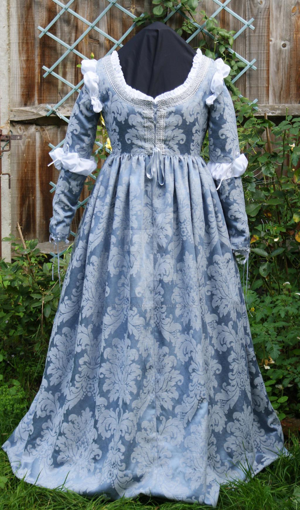 Italian Renaissance Blue Brocade Juliet Dress by Stylish-Costumer on  DeviantArt