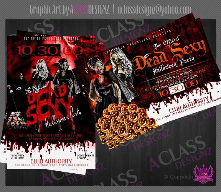 Halloween Flyer by aCLASSdesignz