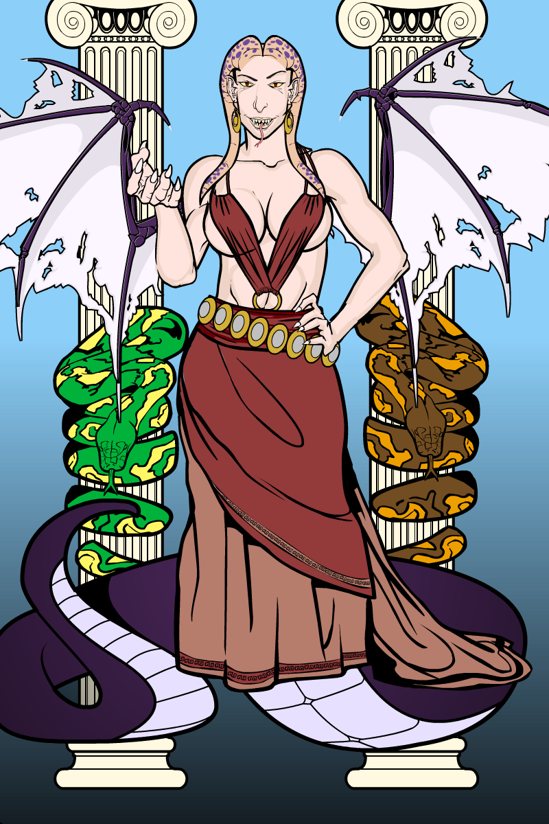 Stheno, the Eldest Gorgon by Wild-Pancake