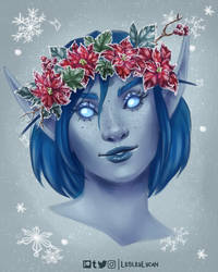 [Commission] Emaryne With Lesley's Flower Crown by Emma-Knightly