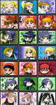 All faces Powerpuff-Rowdyruff