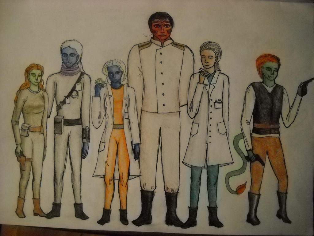 Alpha colony characters by Lt-Kaila