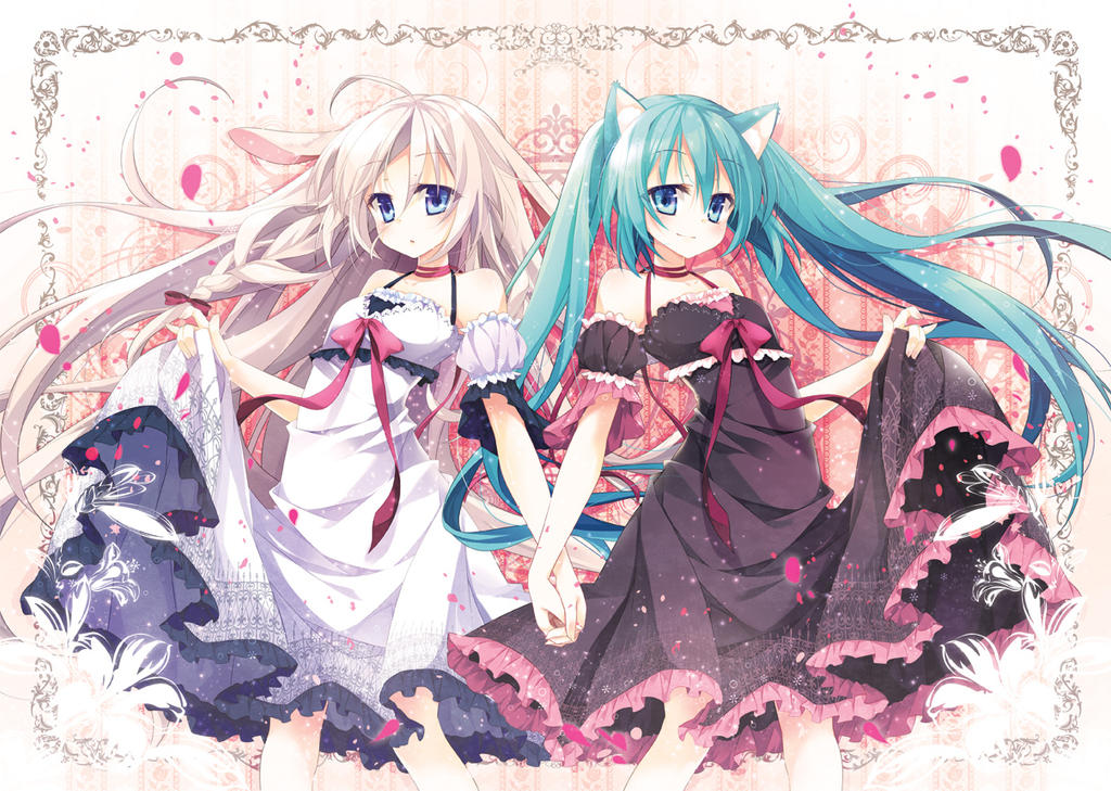 MIKU and IA by naturefour on DeviantArt: naturefour.deviantart.com/art/MIKU-and-IA-389699743