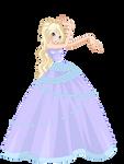 Raurine Flower princess ball gown (request)