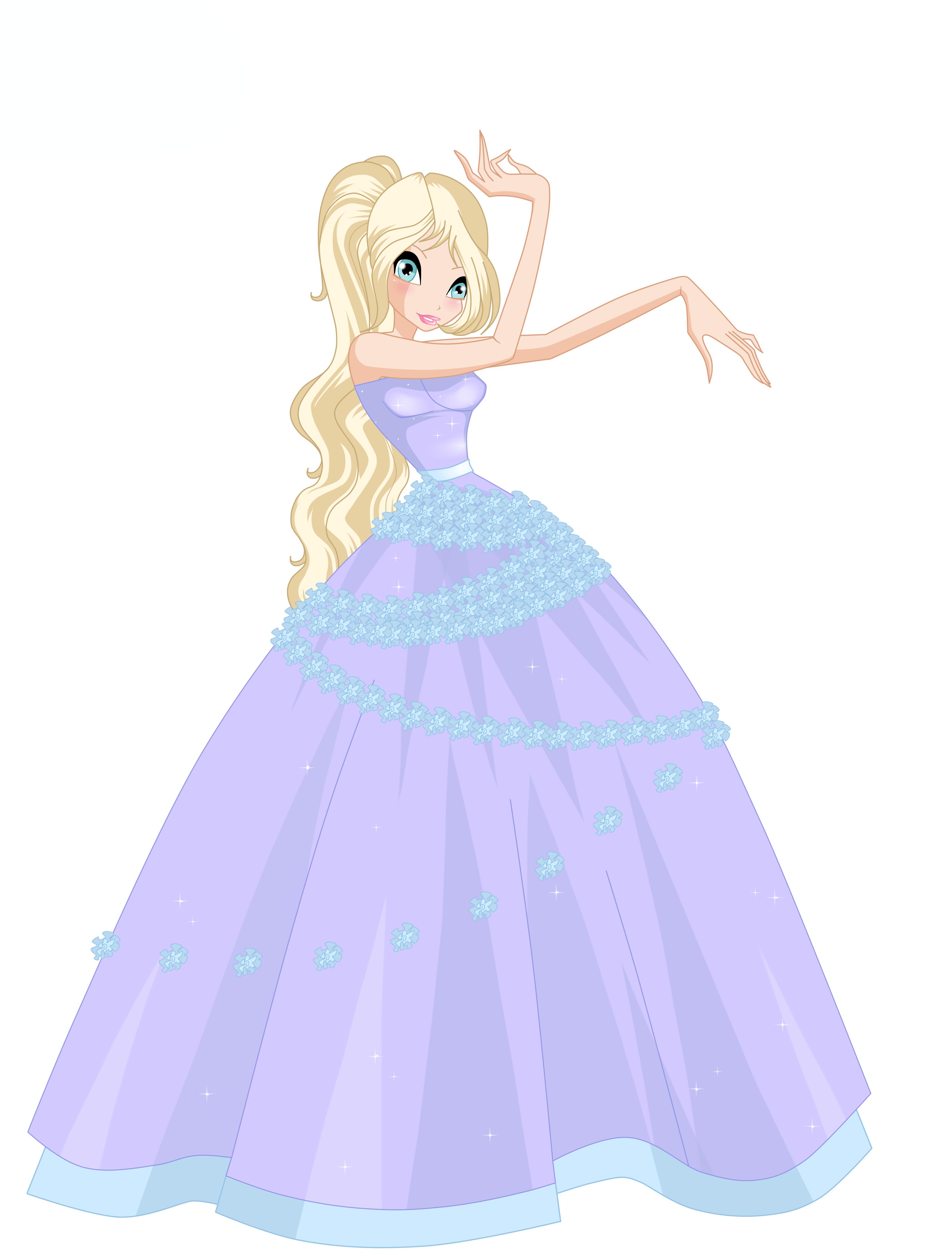 Raurine Flower princess ball gown request by Woogyuxi on DeviantArt