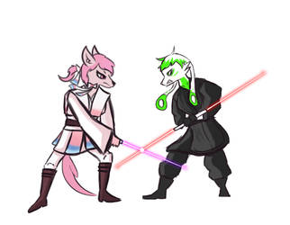 commission : Jedi Vs Sith by JediMasterJin