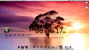 New Desktop with Geektool by xBWCx