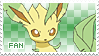Leafeon Fan Stamp by Skymint-Stamps