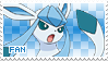 Glaceon Fan Stamp by Skymint-Stamps