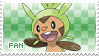 Chespin Fan Stamp by Skymint-Stamps