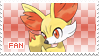 Fennekin Fan Stamp by Skymint-Stamps