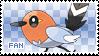 Fletchling Fan Stamp by Skymint-Stamps
