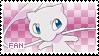 Mew Fan Stamp