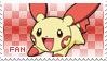 Plusle Fan Stamp by Skymint-Stamps