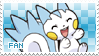 Pachirisu Fan stamp