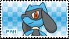 Riolu Fan Stamp