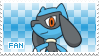 Riolu Fan Stamp by Skymint-Stamps