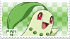 Chikorita Fan Stamp by Skymint-Stamps