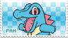 Totodile Fan Stamp by Skymint-Stamps