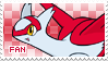 Latias Fan Stamp by Skymint-Stamps