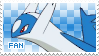 Latios Fan Stamp by Skymint-Stamps